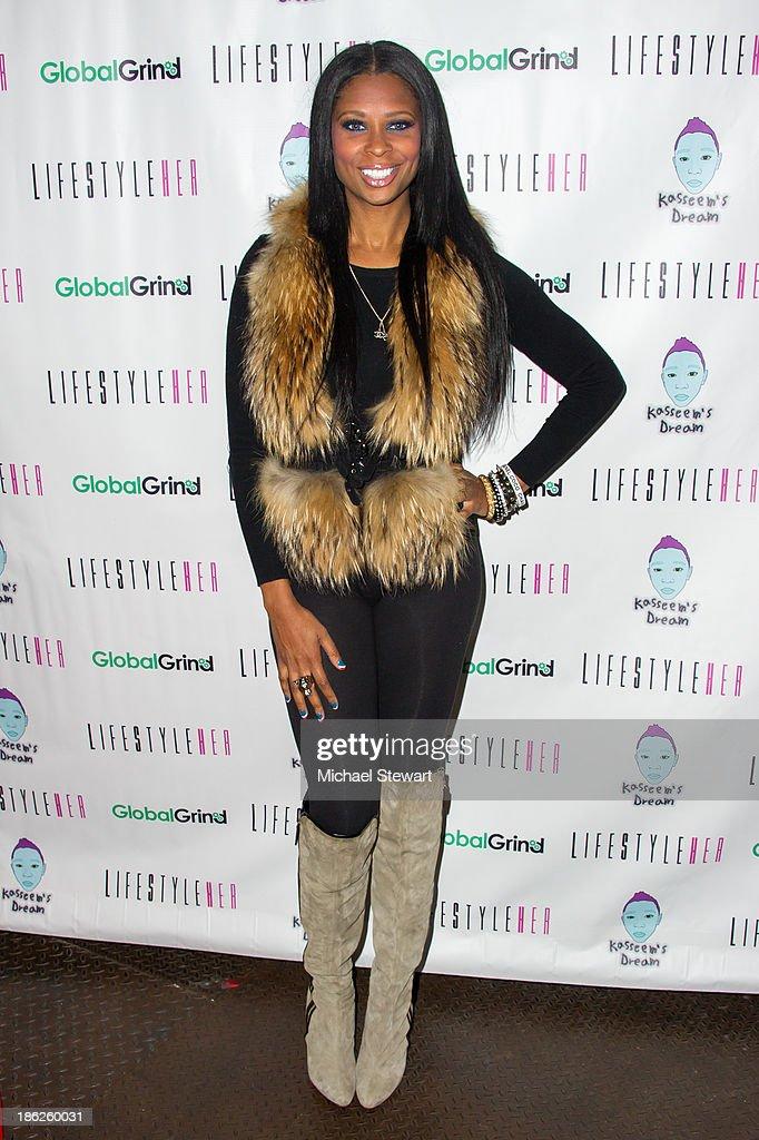 Model Jennifer Williams attends Flipeez Presents Kasseem's Dream Halloween Party at BKLYN BEAST on October 29, 2013 in Brooklyn, New York.