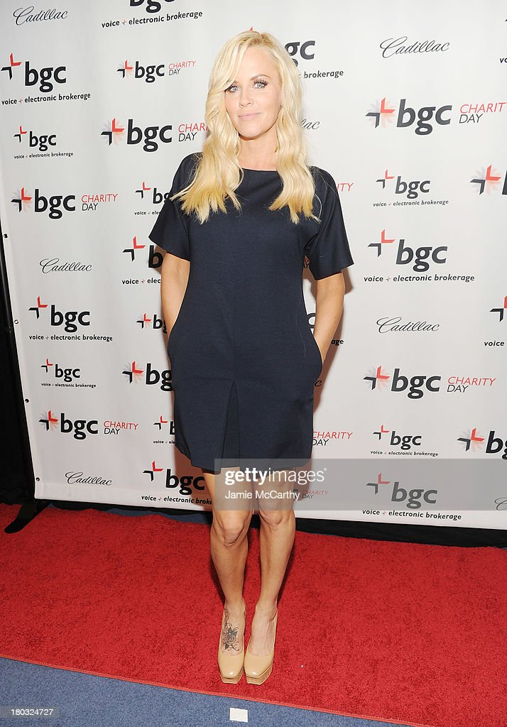 Model Jenny McCarthy attends the annual charity day hosted by Cantor Fitzgerald and BGC at the BGC office on September 11, 2013 in New York City.