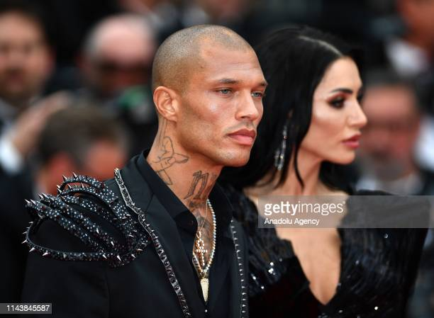 US model Jeremy Meeks and Andreea Sasu arrive for the screening of the film 'The Dead Don't Die' and the Opening Ceremony at the 72nd annual Cannes...