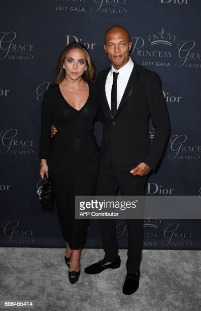 Model Jeremy Meeks and Chloe Green attend the 2017 Princess Grace Awards Gala at The Beverly Hilton Hotel, Beverly Hills, California on October 25,...