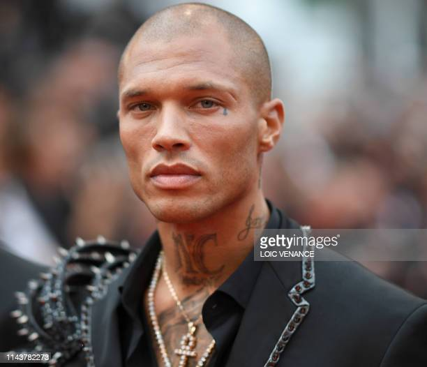 """Model Jeremy Meeks arrives for the screening of the film """"The Dead Don't Die"""" during the 72nd edition of the Cannes Film Festival in Cannes, southern..."""