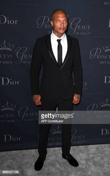 Model Jeremy Meeks attends the 2017 Princess Grace Awards Gala at The Beverly Hilton Hotel, Beverly Hills, California on October 25, 2017. / AFP...