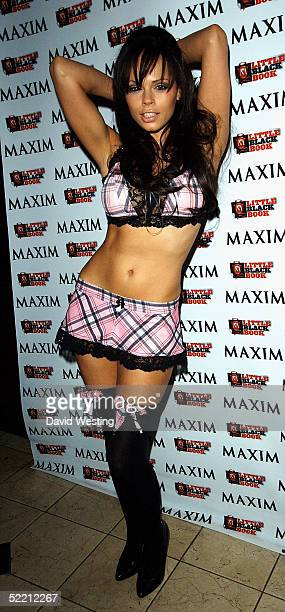 Model Jerri Byrne attends the Maxim's Little Black Book Party celebrating the second annual magazine's supplement featuring the UK's sexiest women at...