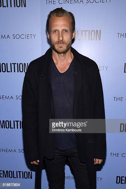 Model Jesper Vesterstrom attends a screening of Demolition hosted by Fox Searchlight Pictures with the Cinema Society at the SVA Theater on March 21...