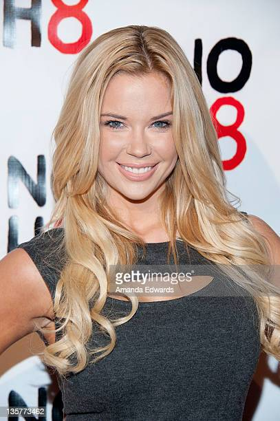 Model Jessa Hinton arrives at the NOH8 Campaign's 3 Year Anniversary Celebration at House of Blues Sunset Strip on December 13 2011 in West Hollywood...