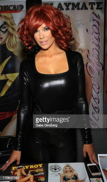 Model Jessa Hinton attends the Amazing Las Vegas Comic Con at the South Point Hotel Casino on June 15 2013 in Las Vegas Nevada