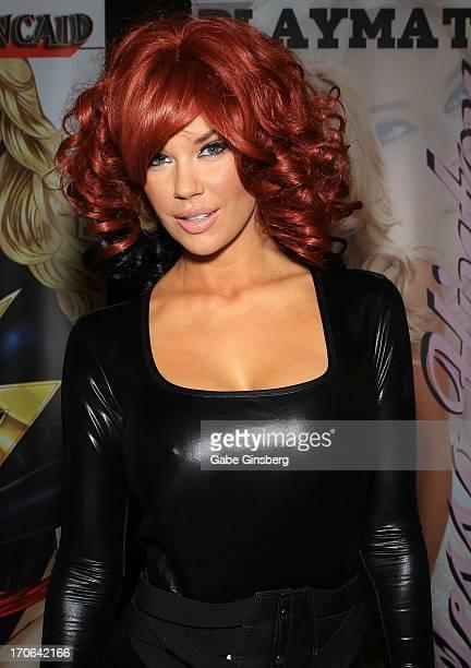 Model Jessa Hinton attends the Amazing Las Vegas Comic Con at the South Point Hotel Casino on June 15 2013 in Las Vegas Nevada
