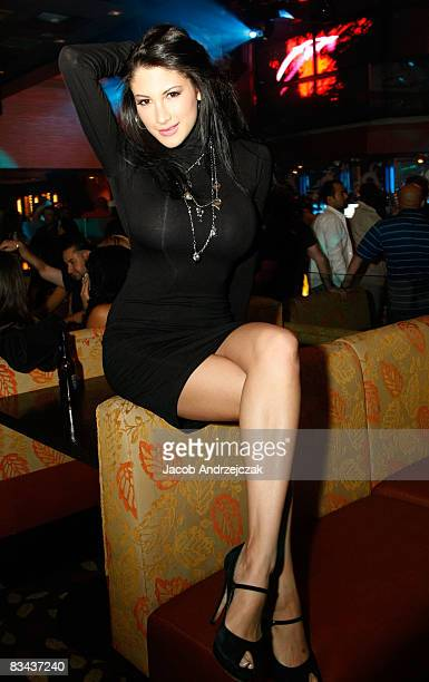 Model Jesse Preston poses at the Hawaiian Tropic Zone Nightclub at the Planet Hollywood Resort Casino on October 25 2008 in Las Vegas Nevada