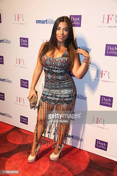 Model Jessenia Vice attends the Harlem's Fashion Row show during Spring 2014 MercedesBenz Fashion Week at Jazz at Lincoln Center on September 6 2013...