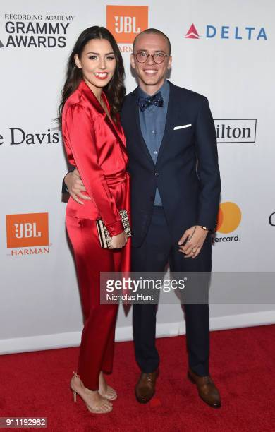 Model Jessica Andrea and recording artist Logic attend the Clive Davis and Recording Academy PreGRAMMY Gala and GRAMMY Salute to Industry Icons...