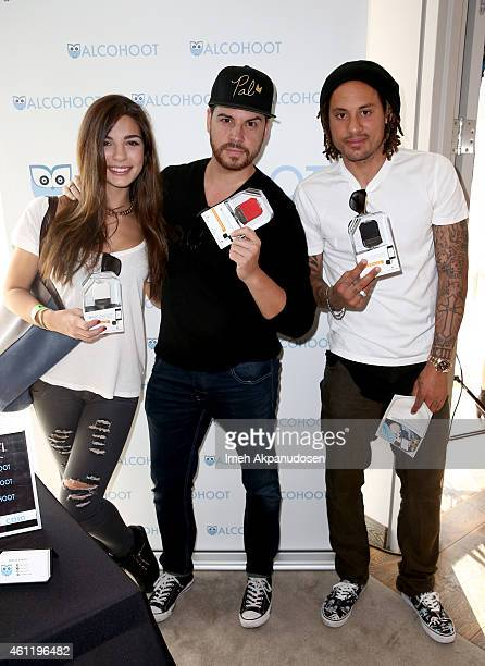 Model Jessica Ashley and Soccer player Jermaine Jones attend Kari Feinstein's PreGolden Globes Style Lounge at Andaz West Hollywood on January 8 2015...
