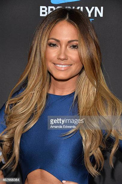 Model Jessica Burciaga arrives at the Roc Nation Grammy Brunch 2015 on February 7 2015 in Beverly Hills California