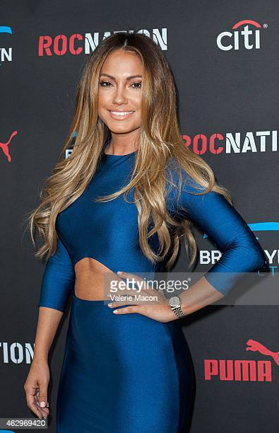 Model Jessica Burciaga arrives at the Roc Nation PreGRAMMY Brunch on February 7 2015 in Beverly Hills California