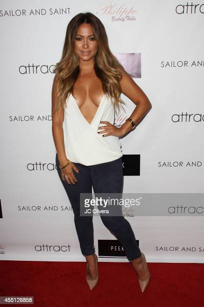 Model Jessica Burciaga attends Attract Magazine mixer hosted by cover girl Meagan Good at Phillipe Chow on September 9 2014 in Los Angeles California