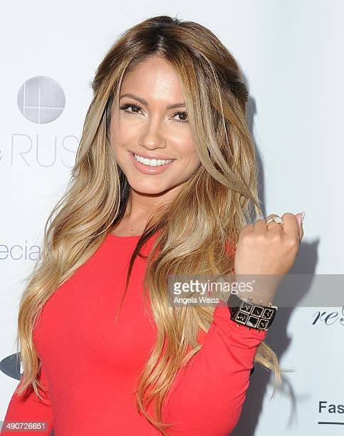Model Jessica Burciaga attends the #TheLinkParty by IceLink hosted by Ronda Rousey and Sponsored by Fashion Forwards Forgiato Rebelle Makeup and...