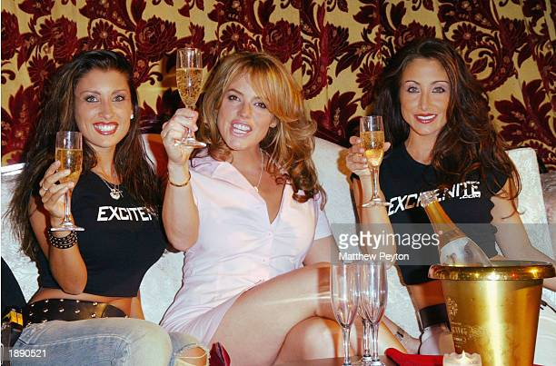 Model Jessica Canizales actress Sanda Taylor and model Melina Fasciana appear at the the launch of 'Excitenite The Next Level In Nightlife...