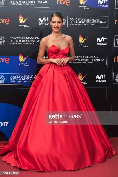 Model Jessica Goicoechea attends 'La Cordillera' premiere during the 65th San Sebastian International Film Festival on September 26 2017 in San...