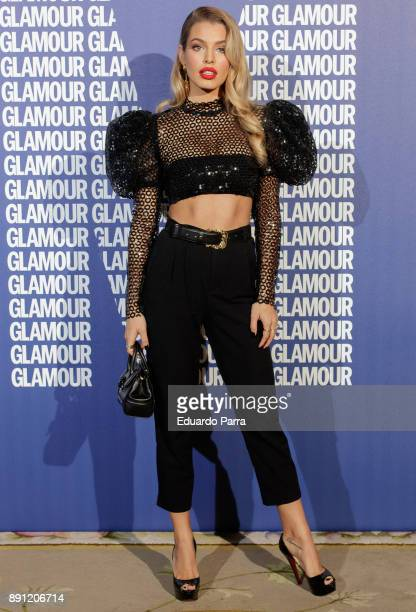 Model Jessica Goicoechea attends the Glamour Magazine Awards photocall at Ritz hotel on December 12, 2017 in Madrid, Spain.