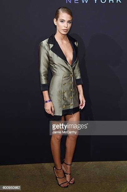 Model Jessica Goicoechea attends the Maybelline New York NYFW KickOff Party on September 8 2016 in New York City