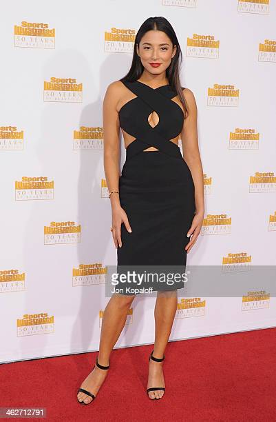 Model Jessica Gomes arrives at NBC And Time Inc Celebrate 50th Anniversary Of Sports Illustrated Swimsuit Issue at Dolby Theatre on January 14 2014...