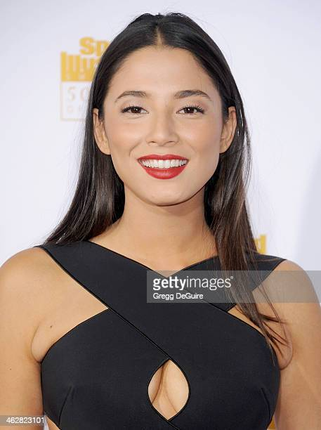 Model Jessica Gomes arrives at the 50th Anniversary Celebration Of Sports Illustrated Swimsuit Issue at Dolby Theatre on January 14 2014 in Hollywood...