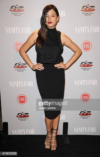 Model Jessica Gomes attends the Vanity Fair Campaign Young Hollywood party at No Vacancy on February 25 2014 in Los Angeles California