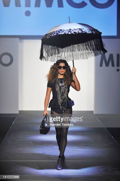 Model Jessica Gomes showcases a design by Mimco on day six of the 2012 L'Oreal Melbourne Fashion Festival on March 13, 2012 in Melbourne, Australia.