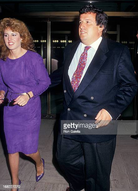 Model Jessica Hahn and her attorney Dominic Barbara visit The Howard Stern Show on September 29 1987 at WXRK KRock 923 Radio Stadion in New York City