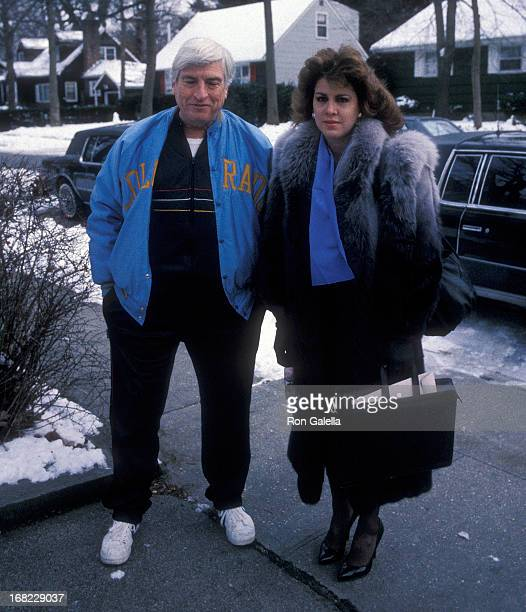 Model Jessica Hahn and her stepfather Edward Moylan on January 7 1988 at Jessica and Edward Moyland in Massapequa Long Island New York