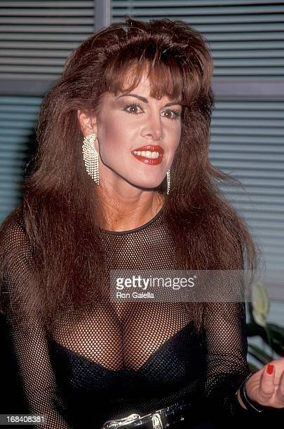 Model Jessica Hahn attends the 12th Annual Video Software Dealers Association Convention and Expo on July 11 1993 at the Las Vegas Convention Center...