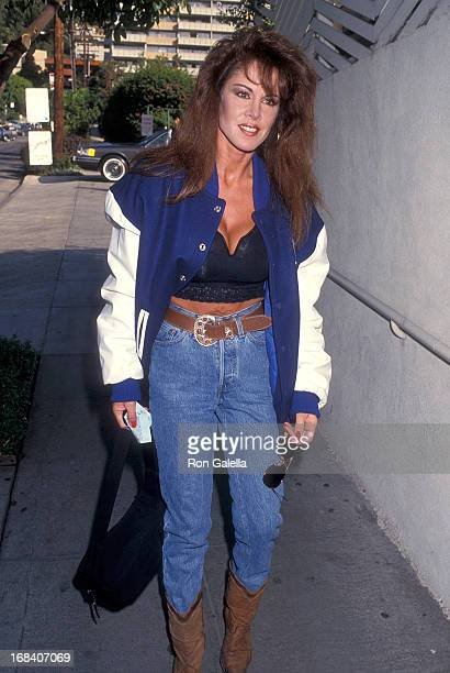Model Jessica Hahn attends The Howard Stern Show Special West Coast Broadcast on November 23 1993 at Spago in West Hollywood California