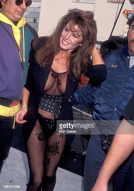 Model Jessica Hahn attends The Howard Stern Show Special West Coast Broadcast on November 24 1992 at The Palace in Hollywood California