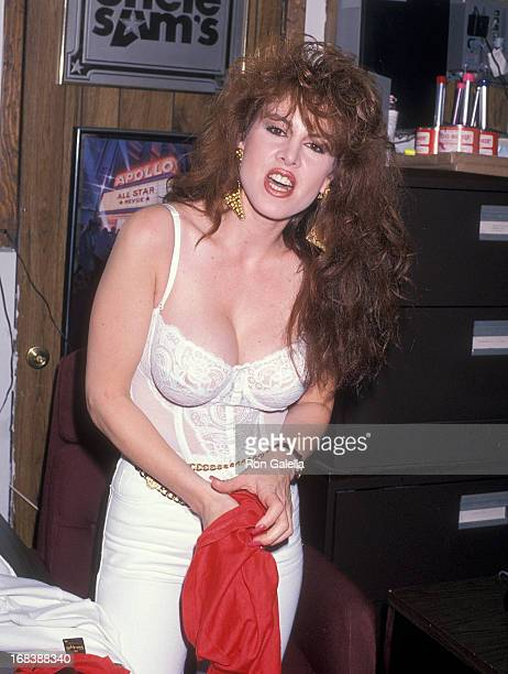 Model Jessica Hahn attends the Slam Jam Rock Wrestling on August 1 1990 at the Spit Club in Levittown Long Island New York