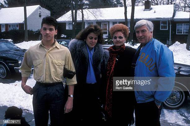 Model Jessica Hahn mother Jessica Moylan stepfather Edward Moylan and halfbrother Danny Moylan on January 7 1988 at Jessica and Edward Moyland in...
