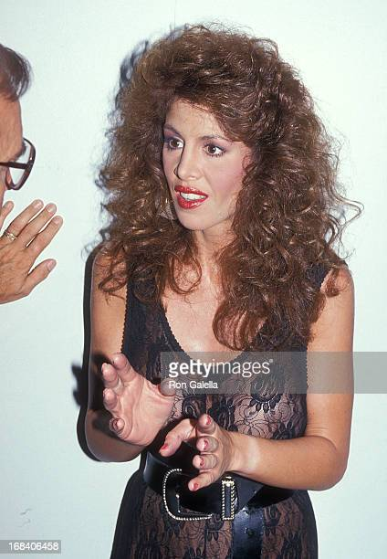 Model Jessica Hahn On the Set of the Film High Heels on August 18 1991 at Hollywood Center Studios in Hollywood California