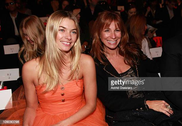 Model Jessica Hart and Jill Zarin of The Real Housewives of New York attend the Betsey Johnson Fall 2011 fashion show during MercedesBenz Fashion...