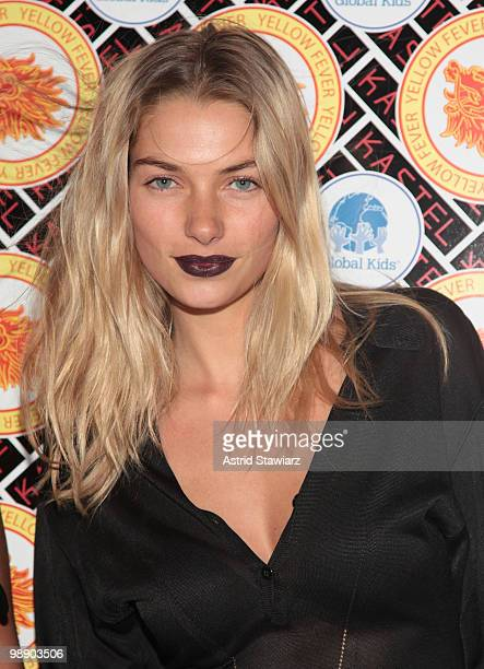 Model Jessica Hart arrives at Kastel for Rosario Dawson's Birthday Party at Trump Soho Hotel on May 6, 2010 in New York City.