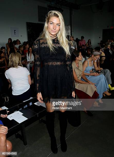 Model Jessica Hart attend Dion Lee Front Row September 2016 during New York Fashion Week at Pier 59 Studios on September 10 2016 in New York City