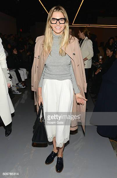 model Jessica Hart attend the Zimmermann Fall 2016 Runway Show at Art Beam on February 12 2016 in New York City