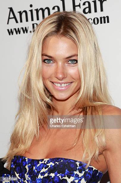 Model Jessica Hart attends Animal Fair's 10th Annual Paws For Style at M2 Ultra Lounge on July 27 2009 in New York City