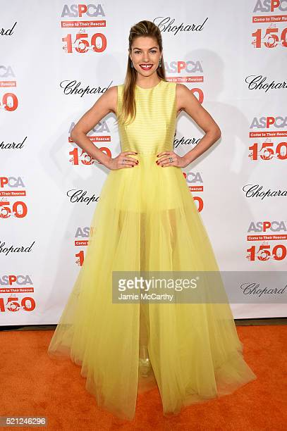 Model Jessica Hart attends ASPCA 19th Annual Bergh Ball honoring Drew Barrymore hosted by Nathan Lane wiith music by Mark Ronson at the Plaza Hotel...
