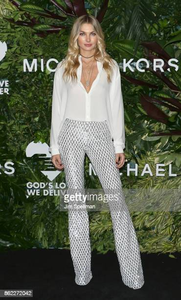 Model Jessica Hart attends the 11th Annual God's Love We Deliver Golden Heart Awards at Spring Studios on October 16 2017 in New York City