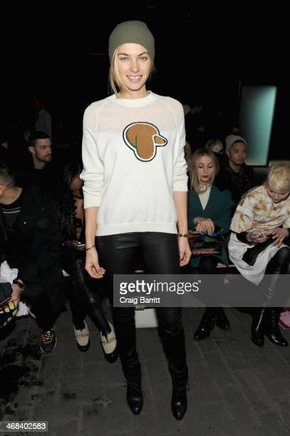 Model Jessica Hart attends the 31 Phillip Lim fashion show during MercedesBenz Fashion Week Fall 2014 at Skylight at Moynihan Station on February 10...