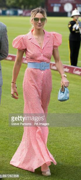 Model Jessica Hart attends the Cartier Queen's Cup polo tournament final at Guards Polo in Windsor Great Park Berkshire