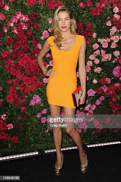 Model Jessica Hart attends the Chanel Artist Dinner during the 2012 Tribeca Film Festival at the The Odeon on April 24 2012 in New York City