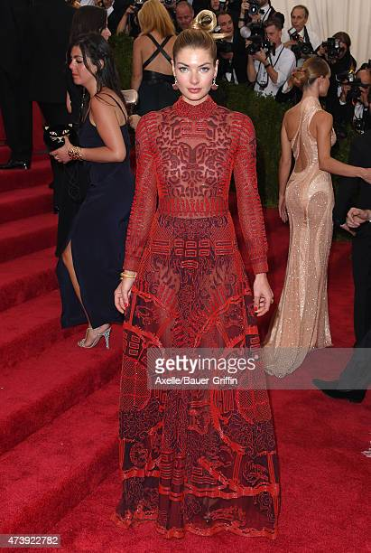 Model Jessica Hart attends the 'China Through The Looking Glass' Costume Institute Benefit Gala at the Metropolitan Museum of Art on May 4 2015 in...