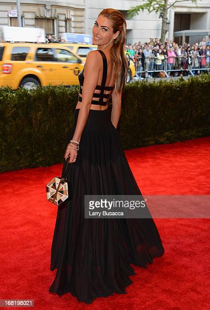 Model Jessica Hart attends the Costume Institute Gala for the PUNK Chaos to Couture exhibition at the Metropolitan Museum of Art on May 6 2013 in New...
