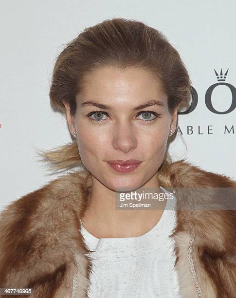 Model Jessica Hart attends The Daily Modelinia Present The Models Issue Party at Harlow on February 7 2014 in New York City