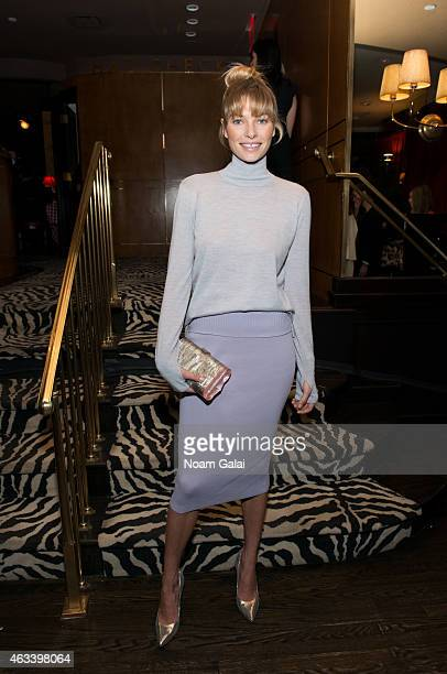 Model Jessica Hart attends the Edie Parker presentation during MercedesBenz Fashion Week Fall 2015 on February 13 2015 in New York City