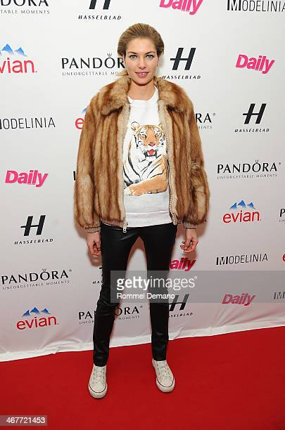 Model Jessica Hart attends the Models Issue Party presented by The Daily Front Row And Modelinia at Harlow on February 7 2014 in New York City